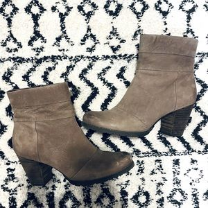 Gray Clarks Boots